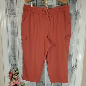 St. John's Bay Active xxl cargo crop capri pants